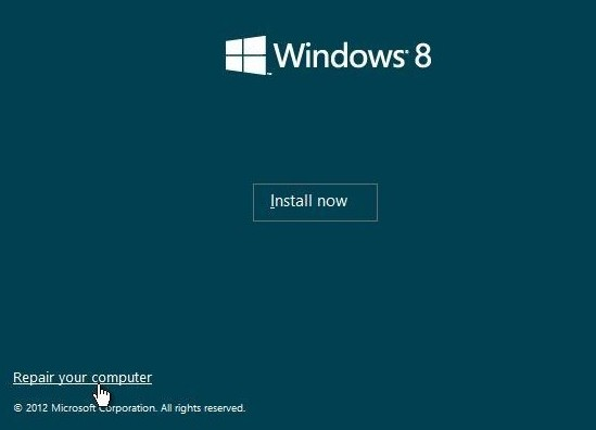 missing operating system windows 8 repair windows