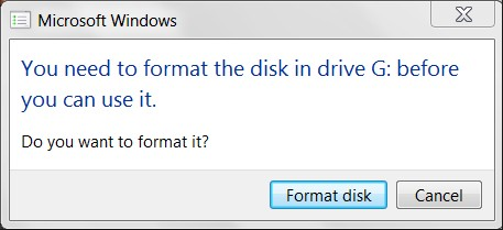 fix raw drive windows prompt to format the drive