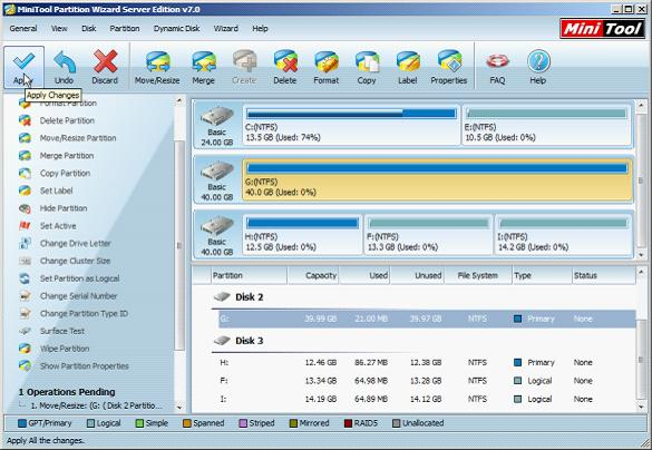 Download free partition magic to help manage disk partitions